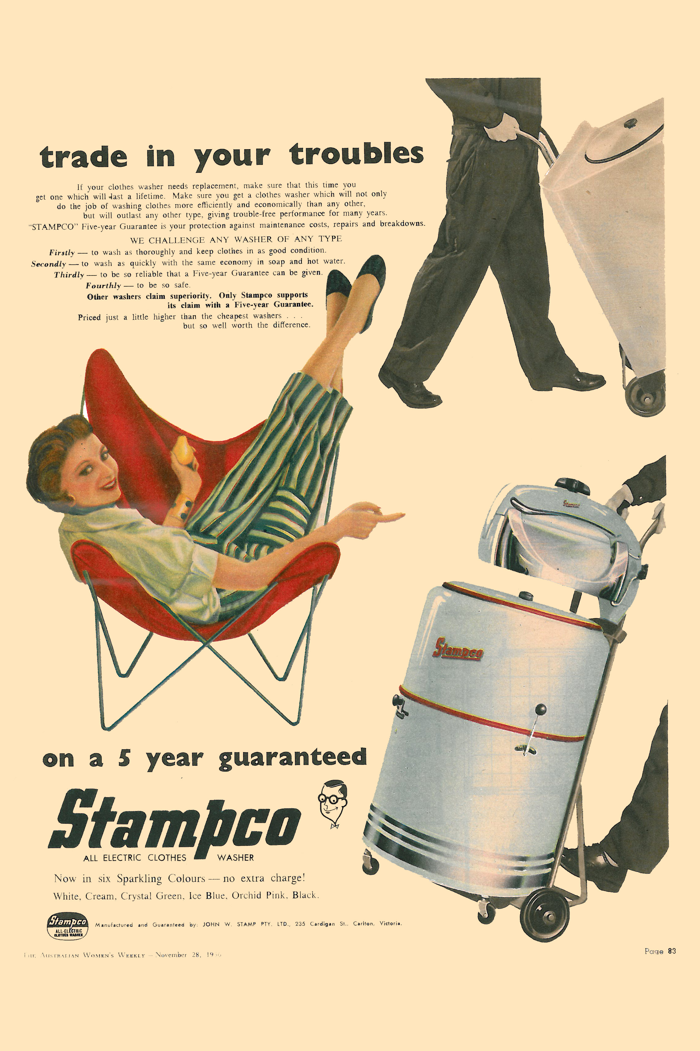 Australian mid-century advertising – Grass-trees & Butterfly Chairs