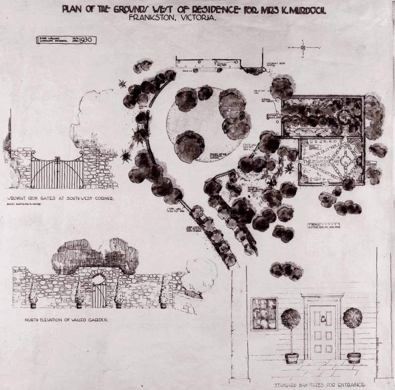 Plan of Cruden Farm by Edna Walling