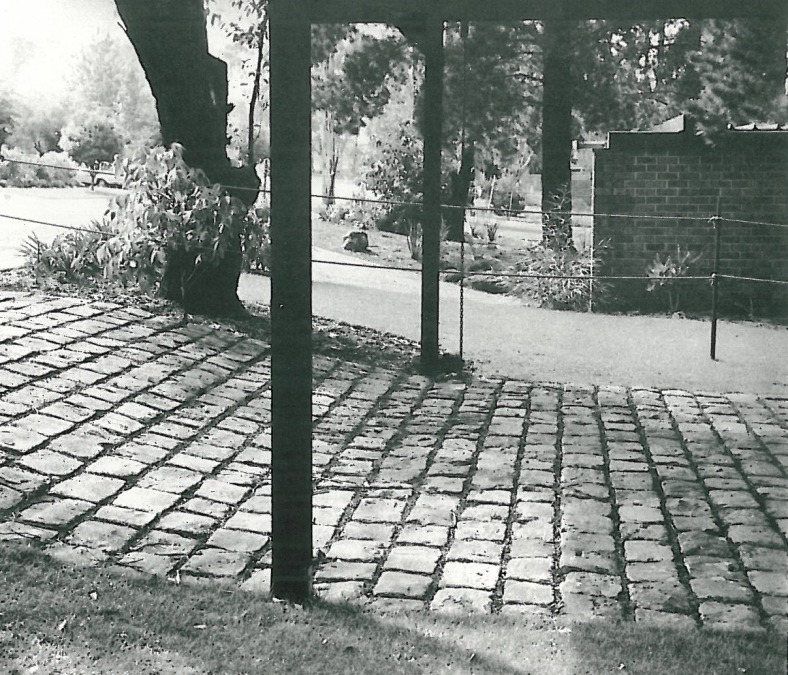 'If the joints between bluestone pitchers are left raked out on the rise to a carport, cars cannot slip.'