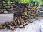 Building an MCM Garden Wall | And What Happened When it Rained at our House