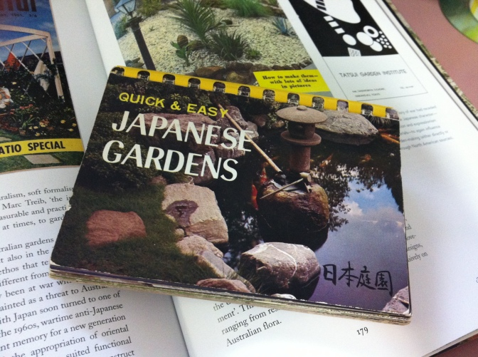 'Quick and Easy Japanese Gardens' a 1970s publication highlighting the popularity of this garden style.