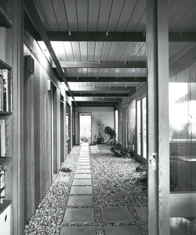 View from the front door of internal garden passage - Scan from 'Living in Australia'