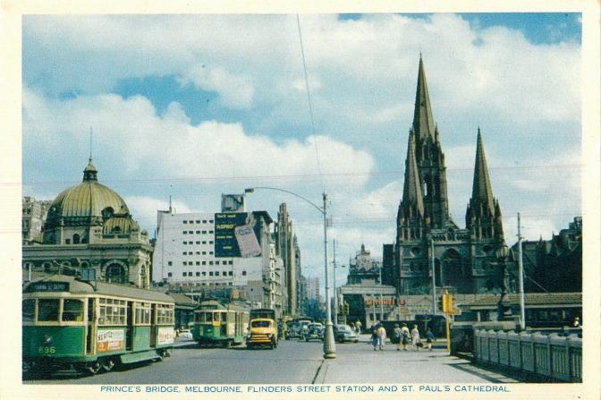 Melbourne Postcard 01 - 1956