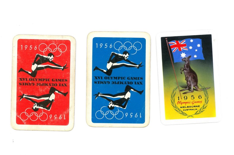 Playing Cards from the Melbourne Olympic Games - 1956